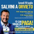 Salvini a Orvieto locandina